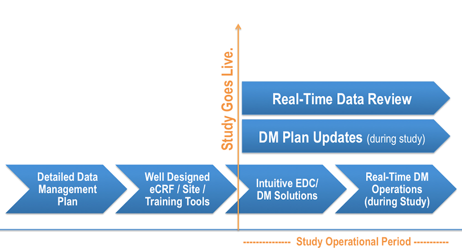 Clinical Data Management Timeline