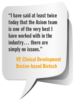 Quote from VP, Clinical Development