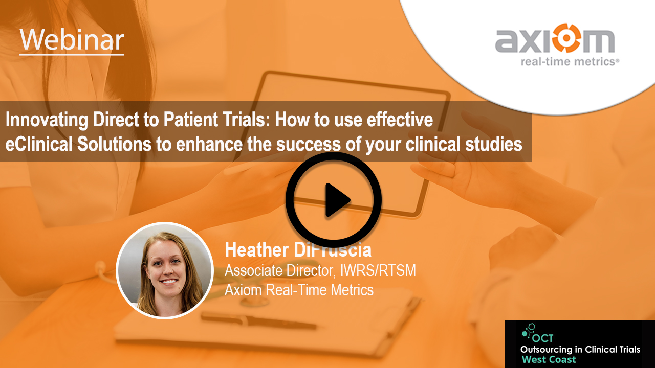 WEBINAR: Innovating Direct-to-Patient Trials: Effective eClinical Solutions to enhance clinical study success