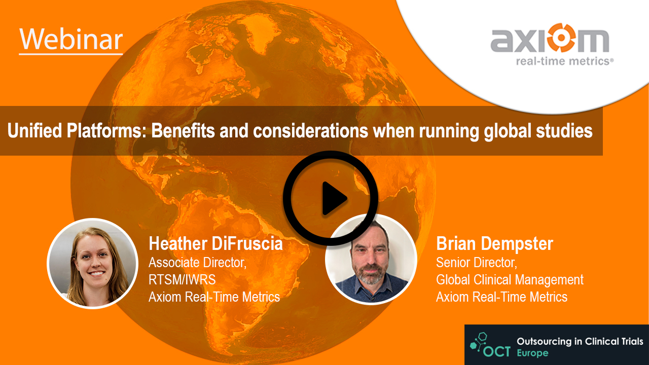WEBINAR: Unified Platforms: Benefits and considerations when running global studies